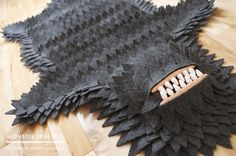 No monsters were harmed in the making of this rug.