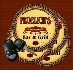 FROELICH'S World Famous Bar & Grill Coasters - Set of 4 J... https://www.amazon.com/dp/B01LY9HH42/ref=cm_sw_r_pi_dp_x_k-uYyb52MXR2P