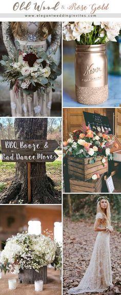 Rustic Old Wood Themed Ourdoor Wedding Ideas