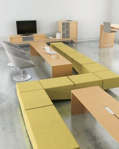 Site benches, tables and storage - also shown are Lipse Too chairs, Prat Table, and MilanoLight Barstool