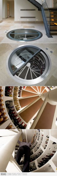 Spiral Wine Cellar - Idea for my home!