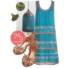 In this outfit: Speakeasy with Confidence Dress, World Travels Fast Lantern, Proud to be Posh Earrings, No Strings Flat #1920's #party #bronze #bohemian