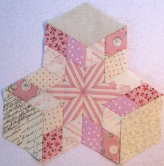 Isn't this pretty!! I wonder if I have some of those little diamond templates in my 'stuff' somewhere! Hmmm!