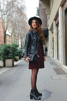 Milan Day 2: Aubergine and Leather | Negin Mirsalehi