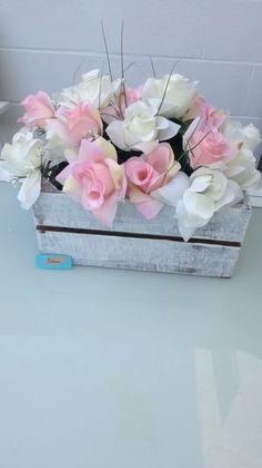 NIDCORSIA - Home, cesta reciclada para centro floral tonos pastel