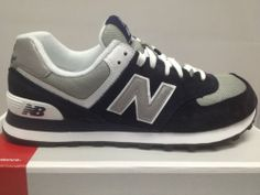 New Balance M574BGS Navy Grey Classic Sneaker Suede Spring 2013 Mens Mesh Suede   eBay