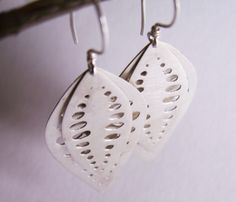 sterling silver small seed earrings - organic - unique - hand made. $94.00, via Etsy.