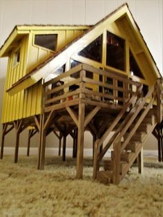 Handmade Wood Doll House /Lighted Scale 1:12 by Pierce and Padgett Creations #PierceandPadgettCreations #Modern