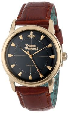 Men's Wrist Watches - Vivienne Westwood Mens VV064BKBR Grosvenor Brown Strap Watch -- Learn more by visiting the image link.