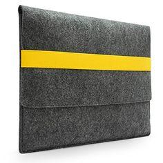 "Lavievert Handmade Gray Felt Case Bag Sleeve with Yellow Elastic Band for Apple 13"" MacBook Air / 13"" MacBook Pro / 13"" MacBook Pro with Retina Lavievert http://www.amazon.com/dp/B00B5RAGOW/ref=cm_sw_r_pi_dp_YvKFvb1AZHVEK"