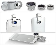 New to photography? This clip-on camera lens kit for your mobile phone can help. #tech #gadget