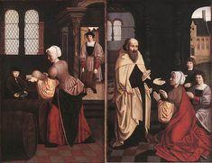 16th-century unknown painters - Elijah and the Widow of Zarapeth (Groeningemuseum)