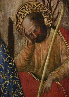 """GIOVANNI FRANCESCO DA RIMINI (Attribué),1440-50 - Vie de la Vierge, La Nativité (Louvre) - Detail 15  -  TAGS/ details détail détails painting paintings peintures """"peinture 15e"""" """"15th-century paintings"""" """"Moyen Âge"""" """"Middle age"""" Museum Paris France Italie Italy Italia Bible prière prayer Bless sacred holy blessed Virgin Jésus Jesus kid family famille """"St Joseph"""" """"da Rimini"""" baby bébé """"Italian paintings"""" """"peinture italienne"""" Rimini bois wood crèche étable """"Rois Mages"""" ox donkey âne nativity…"""