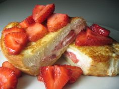 strawberries & cream stuffed french toast