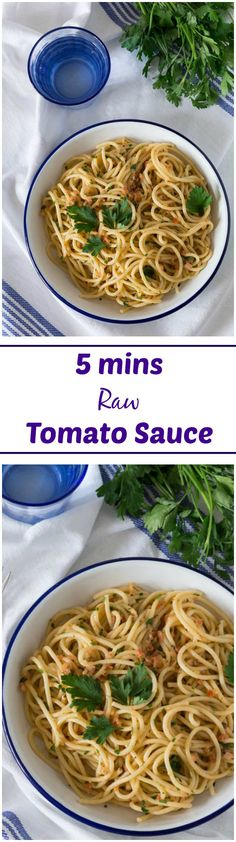 A Raw Tomato Sauce that is ready in just 5 mins. Use up your tomato glut. | Recipes From A Pantry