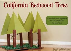 California Redwood Forest Create your own crafty version of a beautiful California redwood forest. This is a wonderful way to learn about nature through art. The post California Redwood Forest was featured on Fun Family Crafts. Forest Crafts, Tree Crafts, Fun Crafts, Crafts For Kids, Kids Diy, Paper Crafts, California Kids, California History, Redwood Forest California