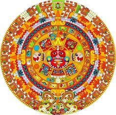 EL CALENDARIO AZTECA O PIEDRA DEL SOL Asombra la exactitud geométrica de esta joya de la Antropología, no cabe la menor duda de que los que la diseñaron fueron grandes sabios y conocedores de las ciencias más puras. En sus jeroglíficos, están indi