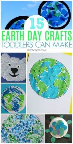 Easy Earth Day activities and crafts for one, two and three year olds #kidscrafts #toddler #preschool