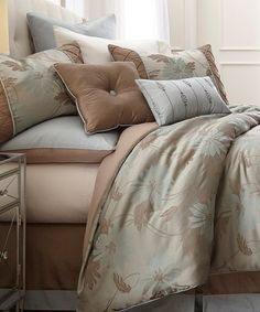Loving this Brown Jacquard Penelope Eight-Piece Comforter Set on #zulily! #zulilyfinds