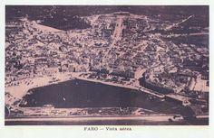 Ai mê rico Algarve!: Vista aérea de Faro, anos 40/50 séc. XX