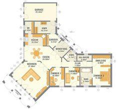 corner bungalow floor plan - Build Container Home Craftsman Bungalow House Plans, Bungalow Floor Plans, Garage House Plans, Small House Plans, House Floor Plans, Craftsman Kitchen, Craftsman Bungalows, New Modern House, Bungalow Interiors