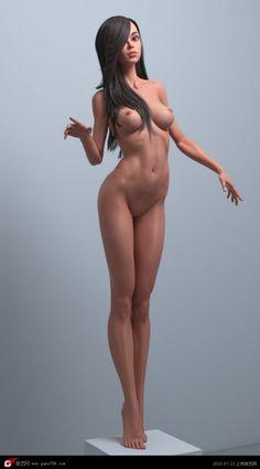 Roman Adamanov的美式卡通妹子3d模型 __【游艺网—GAME798】  游戏美术,游戏培训,游戏开发,提供CG原画,3D游戏模型下载,游戏外包,游戏原画,游戏艺术工厂,游戏招聘等。。