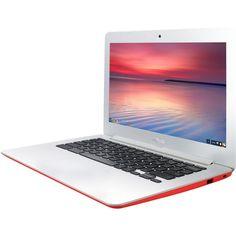 "Asus - C300SA 13.3"" Chromebook - Intel Celeron - 4GB Memory - 16GB eMMC Flash Memory - Red, C300SA-DS02-RD"