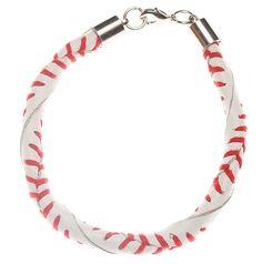 Leather Baseball Bracelet