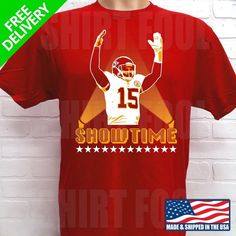 KANSAS CITY CHIEFS PATRICK MAHOMES SHOWTIME T-SHIRT  fashion  clothing   shoes   1d4eefdec