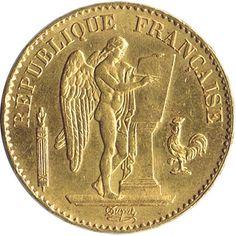 Moneda de oro 20 francos Francia 1878.