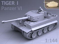 1/144 - TIGER I TANK 3d printed
