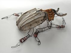 beetle 2 wire and paper Joel Armstrong jarmstrongart.com