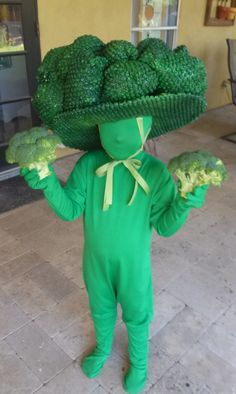 Nutrition Month Costume For Kids Diy Best Baby Costumes, Diy Costumes, Halloween Costumes For Kids, Clever Costumes, Children Costumes, Costume Ideas, Broccoli Costume, Bonnie Costume, Nutrition Month Costume