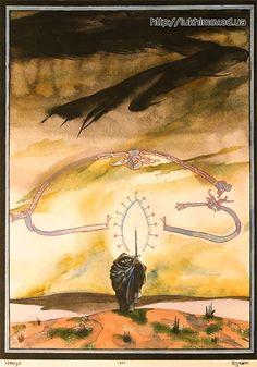 Beautiful Medieval-Style Tolkien Illustrations In Watercolor by Russian artist Sergei Iukhimov