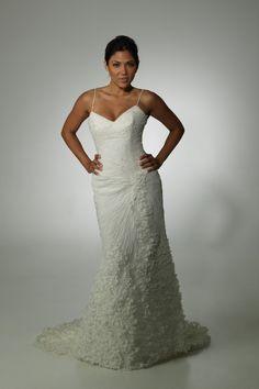 Gorgeous unique wedding dress by Aalia