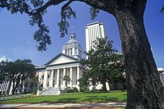 Florida state capitol building in Tallahassee.