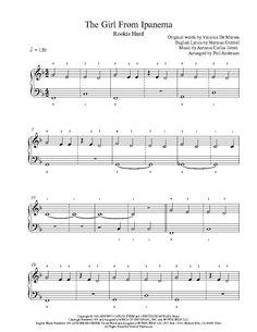 The Girl From Ipanema by Antonio Carlos Jobim Piano Sheet Music | Rookie Level