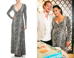 Naya Rivera hosts her baby shower, Los Angeles, August 1, 2015 Also available in plus sizes.Rachel Pally Long Print Wrap Dress