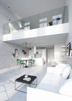 Casinha colorida: Especial Salas de Estar: estilo loft (o Industrial Chic em 2016)