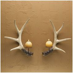 antler sconces for candles - Google Search