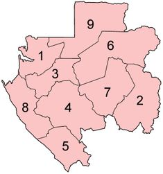 Gabon is divided into nine provinces and further divided into 37 departments.