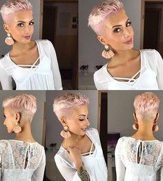 85 New Best Pixie Cut Ideas for 2019 - Love this Hair - kurzhaarfrisuren Super Short Hair, Short Grey Hair, Short Hair Cuts For Women, Short Pixie Haircuts, Pixie Hairstyles, Summer Haircuts, Prom Hairstyles, Short Pixie Cuts, Undercut Pixie Haircut