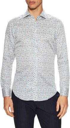 Etro Men's Paisley Print Dress Shirt