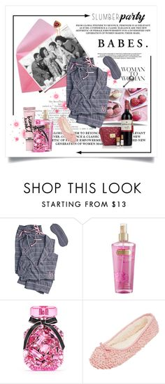 """""""Slumber Party"""" by conch-lady ❤ liked on Polyvore featuring Victoria's Secret, Beauty Rush and slumberparty"""