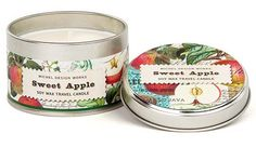 Sweet Apple Travel Candle Tin | Michel Design Works | $9.99 @ BettesGifts.com