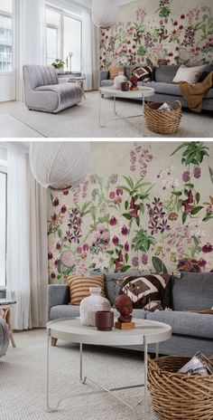 Room Wallpaper, Wallpaper Ideas, Adventures In Wonderland, Inspiration Boards, Beautiful Interiors, Wall Murals, Designer, Living Room, Garden