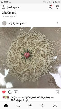 Needle Lace, Doilies, Needlework, Shabby Chic, Tapestry, Diy Crafts, Instagram, Lace, Needlepoint