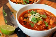 Love me some Posole! It is a filling stew made of hominy, pork/chicken and red chile. It is a delicious! Slow Cooker Recipes, Crockpot Recipes, Soup Recipes, Chicken Recipes, Cooking Recipes, Dinner Recipes, Cooking Ideas, Yummy Recipes, Dinner Ideas