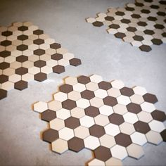 Zhana Fliesen Hexagonal tiles wine cellar Austria - layout test