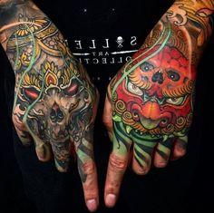 Japanese Tattoo On Hand Traditional Japanese Tattoo Sleeve, Japanese Hand Tattoos, Simple Hand Tattoos, Traditional Hand Tattoo, Hand Tattoos For Guys, Dragon Hand Tattoo, Skull Hand Tattoo, Rose Hand Tattoo, Wolf Tattoos